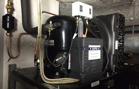 Kälteanlage für einen Müllkühlraum