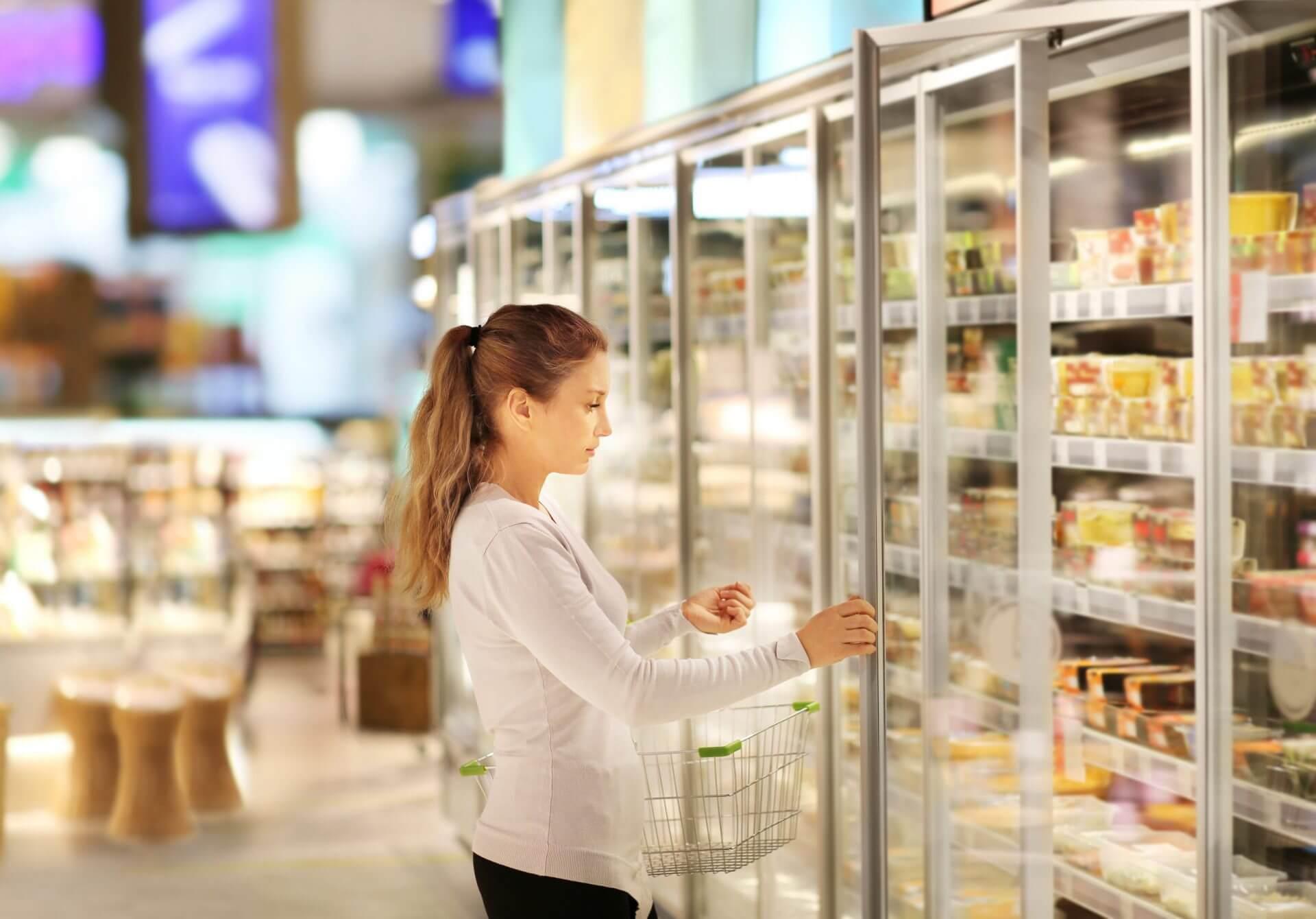Kühlung im Supermarkt